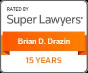 Super Lawyers 15 Years Brian Drazin